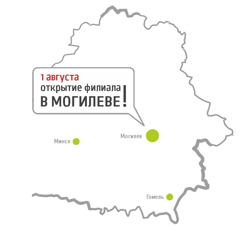 Карта открытий филиалов