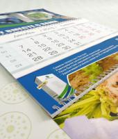 Пример квартального календаря напечатанного в Киви