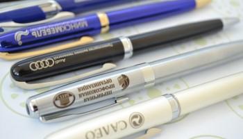 Образцы нанесения на шариковые ручки